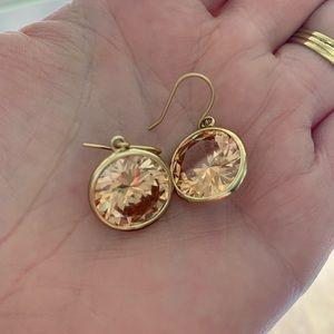 Jcrew Peach Bezel Earrings